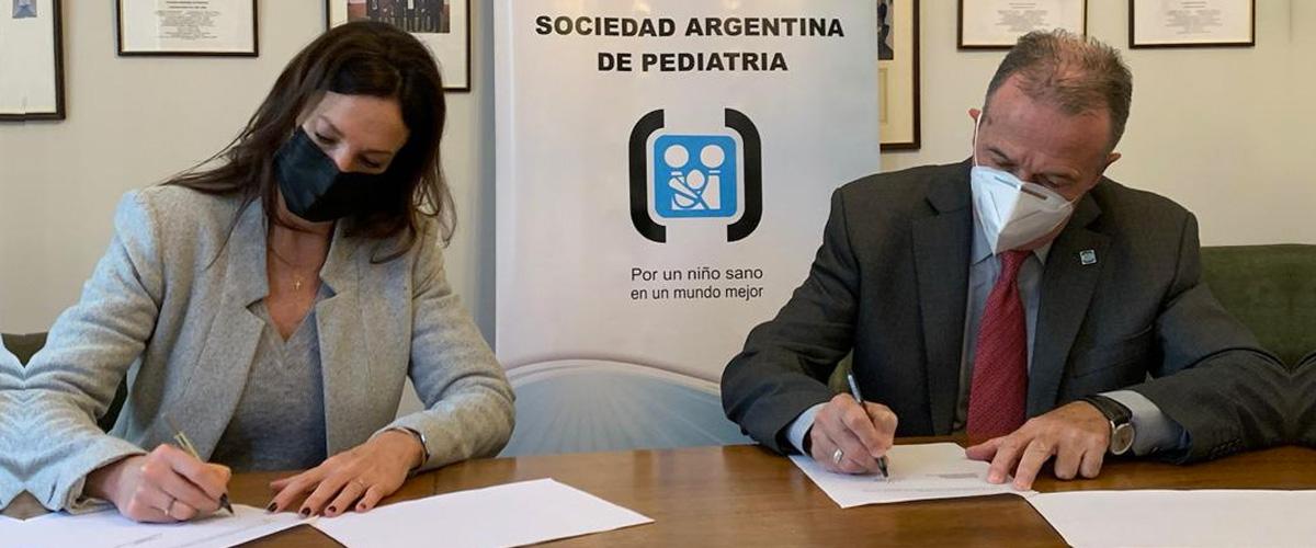 Se firmó un convenio con la Sociedad Argentina de Pediatría