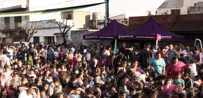 El MPT festejó el día del niño en el barrio de Mataderos